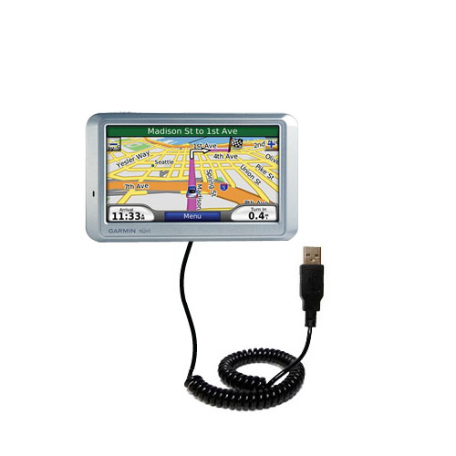 Coiled USB Cable compatible with the Garmin Nuvi 710