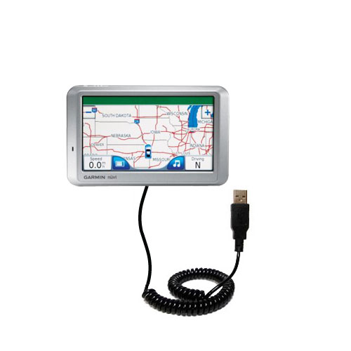 Coiled USB Cable compatible with the Garmin Nuvi 750