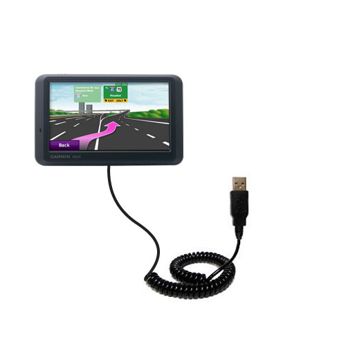 Coiled USB Cable compatible with the Garmin nuvi 765