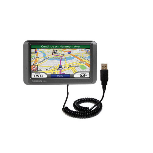 Coiled USB Cable compatible with the Garmin Nuvi 770