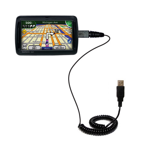 Coiled USB Cable compatible with the Garmin Nuvi 855