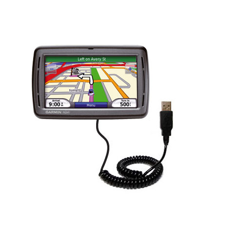 Coiled USB Cable compatible with the Garmin Nuvi 860
