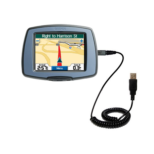Coiled USB Cable compatible with the Garmin StreetPilot C310
