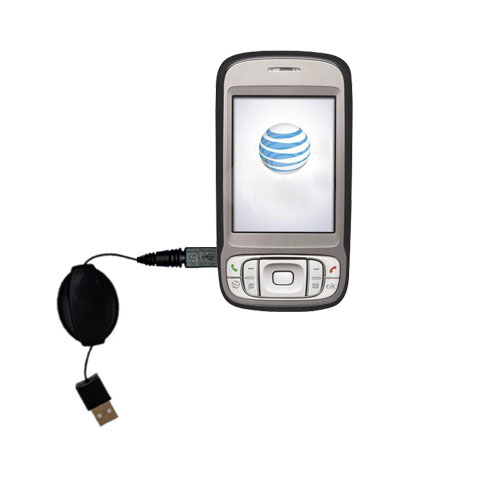 Retractable USB Power Port Ready charger cable designed for the HTC 3G UMTS PDA Phone and uses TipExchange