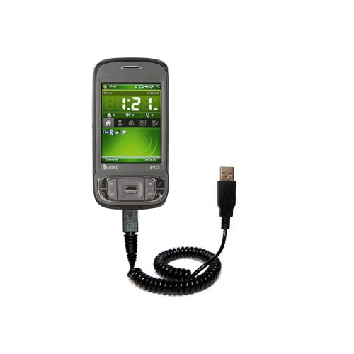 Coiled USB Cable compatible with the HTC 8925