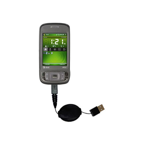 Retractable USB Power Port Ready charger cable designed for the HTC 8925 and uses TipExchange