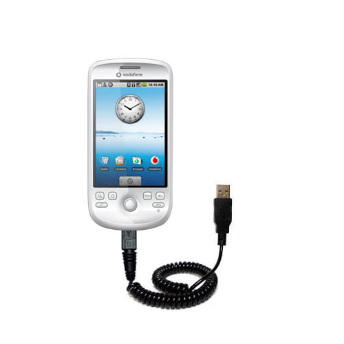 Coiled USB Cable compatible with the HTC Click