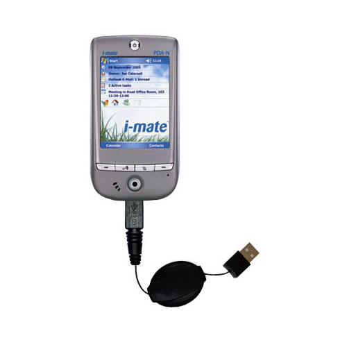 Retractable USB Power Port Ready charger cable designed for the HTC Galaxy and uses TipExchange