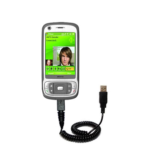 Coiled USB Cable compatible with the HTC Kaiser