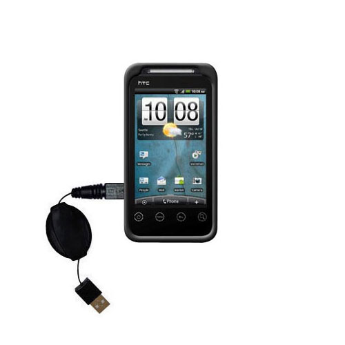 Retractable USB Power Port Ready charger cable designed for the HTC Knight and uses TipExchange