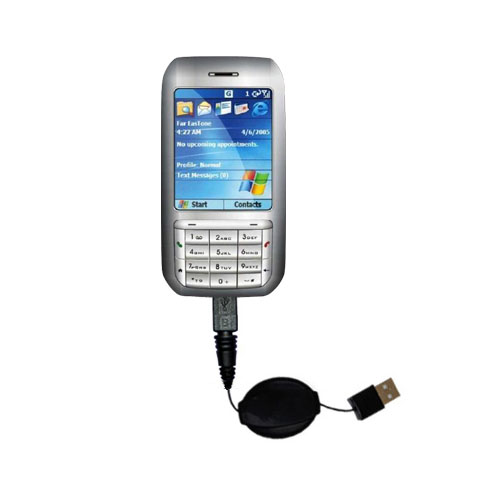 Retractable USB Power Port Ready charger cable designed for the HTC Libra and uses TipExchange