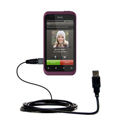 USB Cable compatible with the HTC Rhyme
