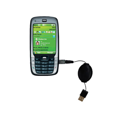 Retractable USB Power Port Ready charger cable designed for the HTC S710 and uses TipExchange