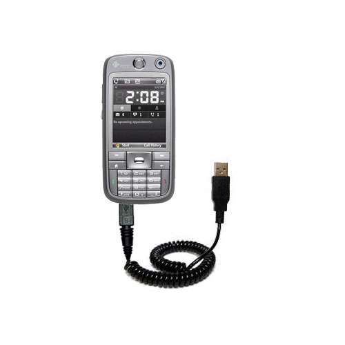 Coiled USB Cable compatible with the HTC S730