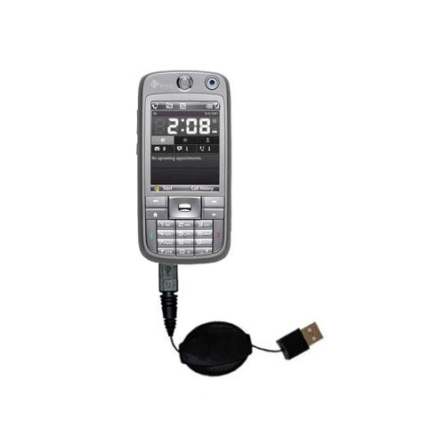 Retractable USB Power Port Ready charger cable designed for the HTC S730 and uses TipExchange