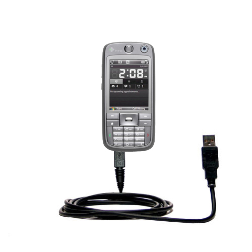 Classic Straight USB Cable suitable for the HTC S730 with Power Hot Sync and Charge Capabilities - Uses Gomadic TipExchange Technology