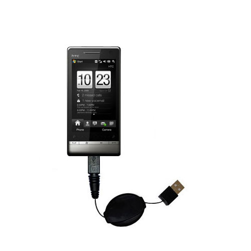 Retractable USB Power Port Ready charger cable designed for the HTC Touch Diamond2 and uses TipExchange