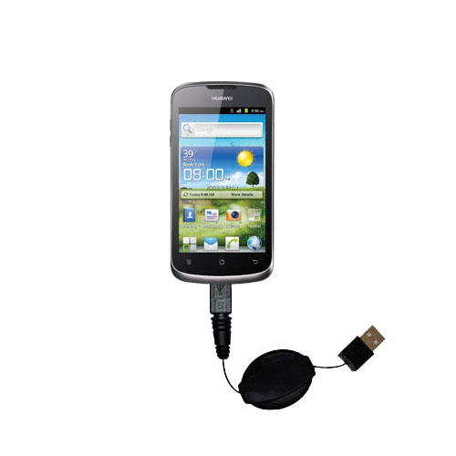 Retractable USB Power Port Ready charger cable designed for the Huawei U8815 and uses TipExchange