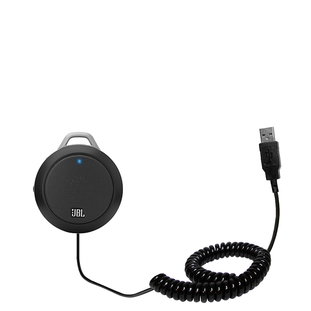 Coiled USB Cable compatible with the JBL Micro II
