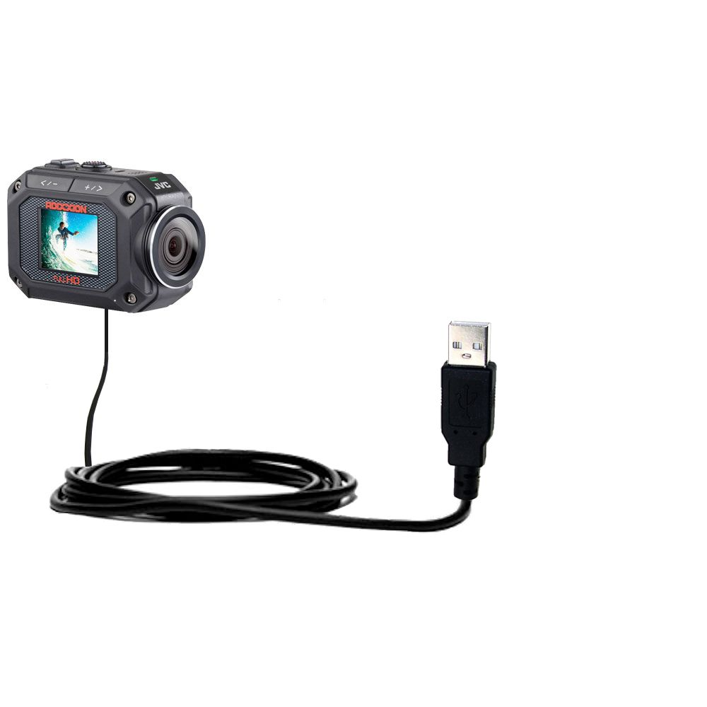 USB Cable compatible with the JVC GC-XA2 Action Camera