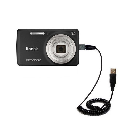 Coiled USB Cable compatible with the Kodak EasyShare M552