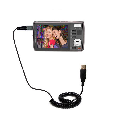Coiled USB Cable compatible with the Kodak EasyShare M575