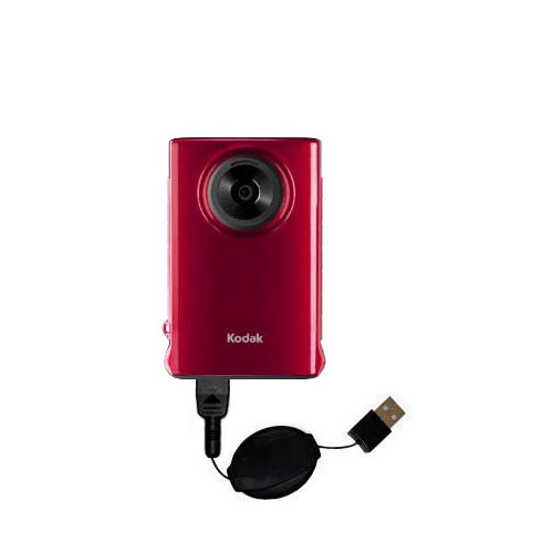 Retractable USB Power Port Ready charger cable designed for the Kodak Mini Video Camera and uses TipExchange