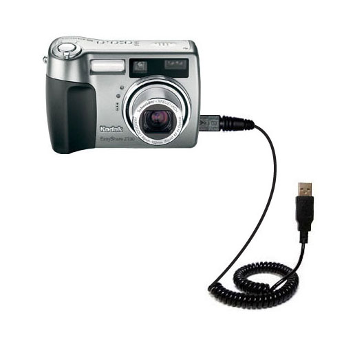 USB Power Port Ready design and uses TipExchange Gomadic compact and retractable USB Charge cable for Kodak Z730