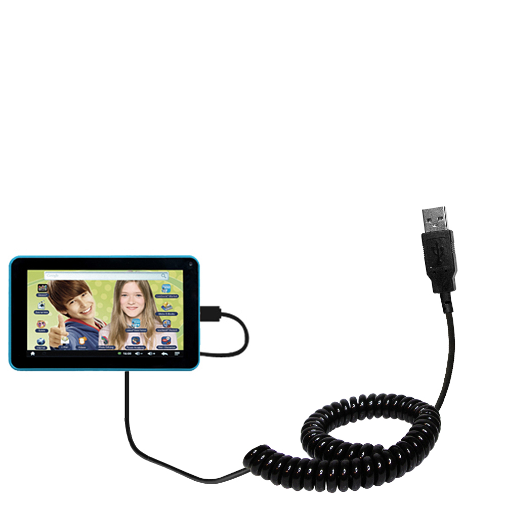 Coiled USB Cable compatible with the Lexibook Tablet Advance MFC180EN