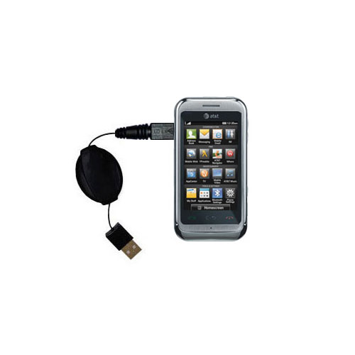 Retractable USB Power Port Ready charger cable designed for the LG Arena and uses TipExchange