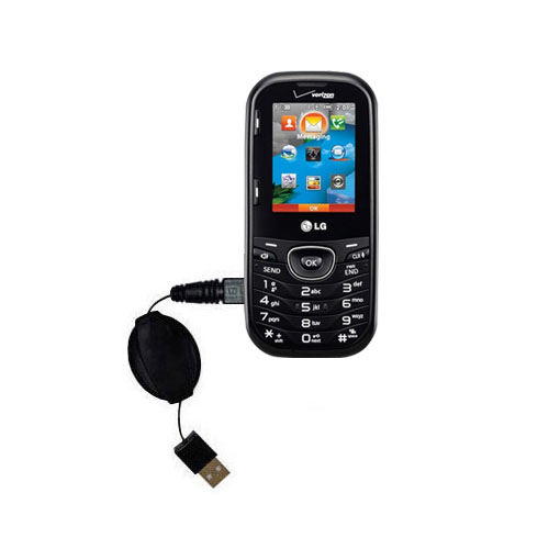 Retractable USB Power Port Ready charger cable designed for the LG Cosmos 2 and uses TipExchange