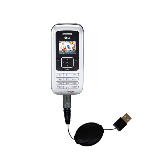 Retractable USB Power Port Ready charger cable designed for the LG EnV and uses TipExchange