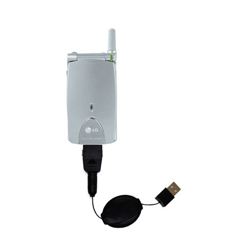 Retractable USB Power Port Ready charger cable designed for the LG G4010 and uses TipExchange
