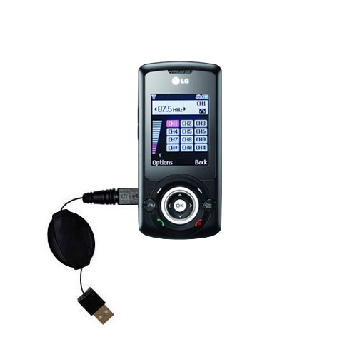 Retractable USB Power Port Ready charger cable designed for the LG GB130 and uses TipExchange