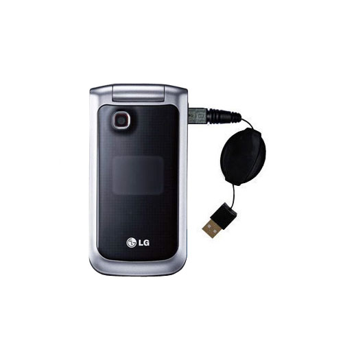 Retractable USB Power Port Ready charger cable designed for the LG GB220 and uses TipExchange