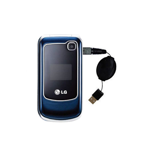 Retractable USB Power Port Ready charger cable designed for the LG GB250 and uses TipExchange