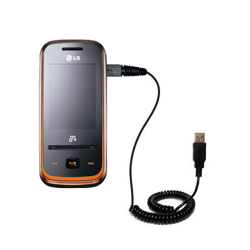 Coiled USB Cable compatible with the LG GM310