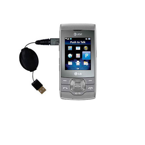 Retractable USB Power Port Ready charger cable designed for the LG GU292 and uses TipExchange