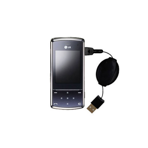 Retractable USB Power Port Ready charger cable designed for the LG KF510 / KF-510 and uses TipExchange