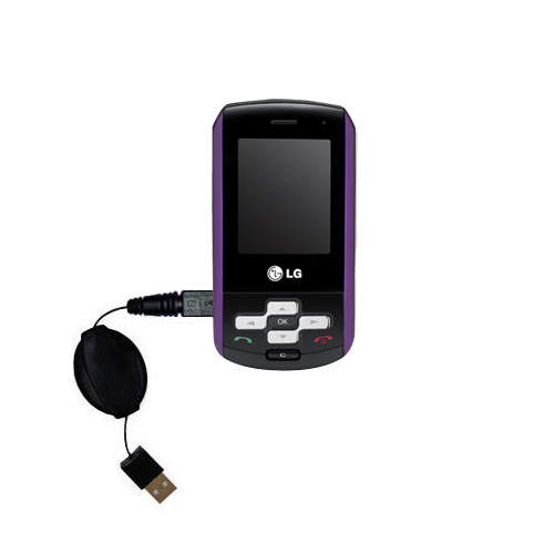 Retractable USB Power Port Ready charger cable designed for the LG KP265 and uses TipExchange