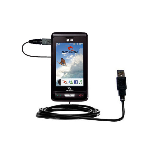 USB Cable compatible with the LG KP550 Rip Curl