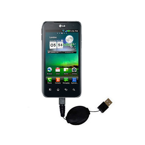 USB Power Port Ready retractable USB charge USB cable wired specifically for the LG Optimus 2X and uses TipExchange
