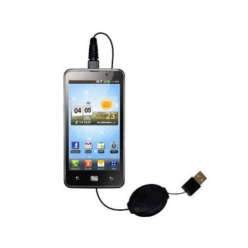 Retractable USB Power Port Ready charger cable designed for the LG Revolution 2 and uses TipExchange