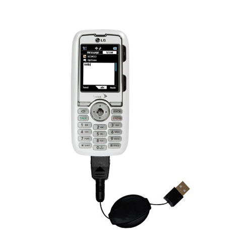Retractable USB Power Port Ready charger cable designed for the LG Rumor and uses TipExchange