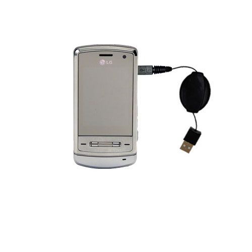 Retractable USB Power Port Ready charger cable designed for the LG Shine and uses TipExchange