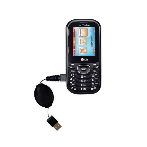 Retractable USB Power Port Ready charger cable designed for the LG UN251 and uses TipExchange
