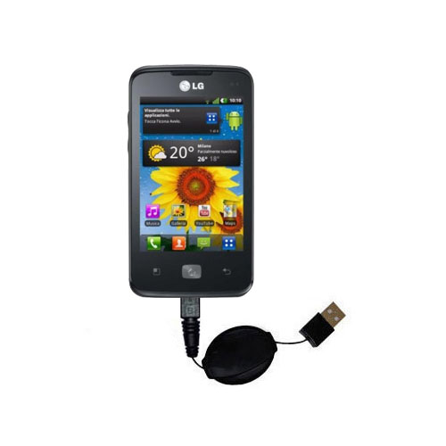 Retractable USB Power Port Ready charger cable designed for the LG Univa and uses TipExchange