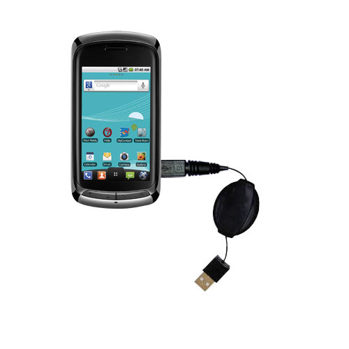 Retractable USB Power Port Ready charger cable designed for the LG US760 and uses TipExchange