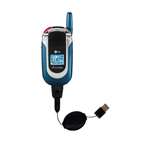 Retractable USB Power Port Ready charger cable designed for the LG UX390 and uses TipExchange