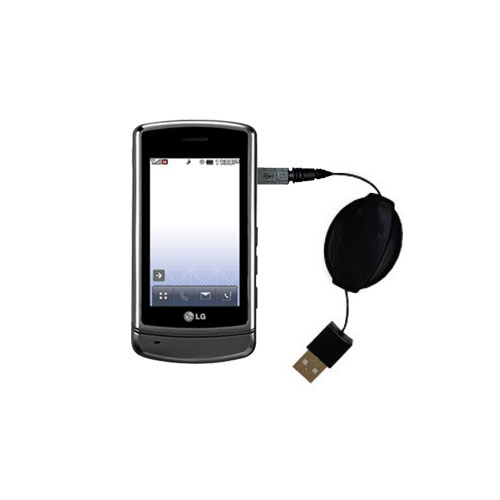 Retractable USB Power Port Ready charger cable designed for the LG UX830 UX840 and uses TipExchange